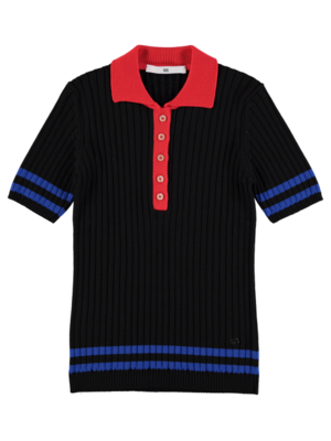 Polo Knit Black