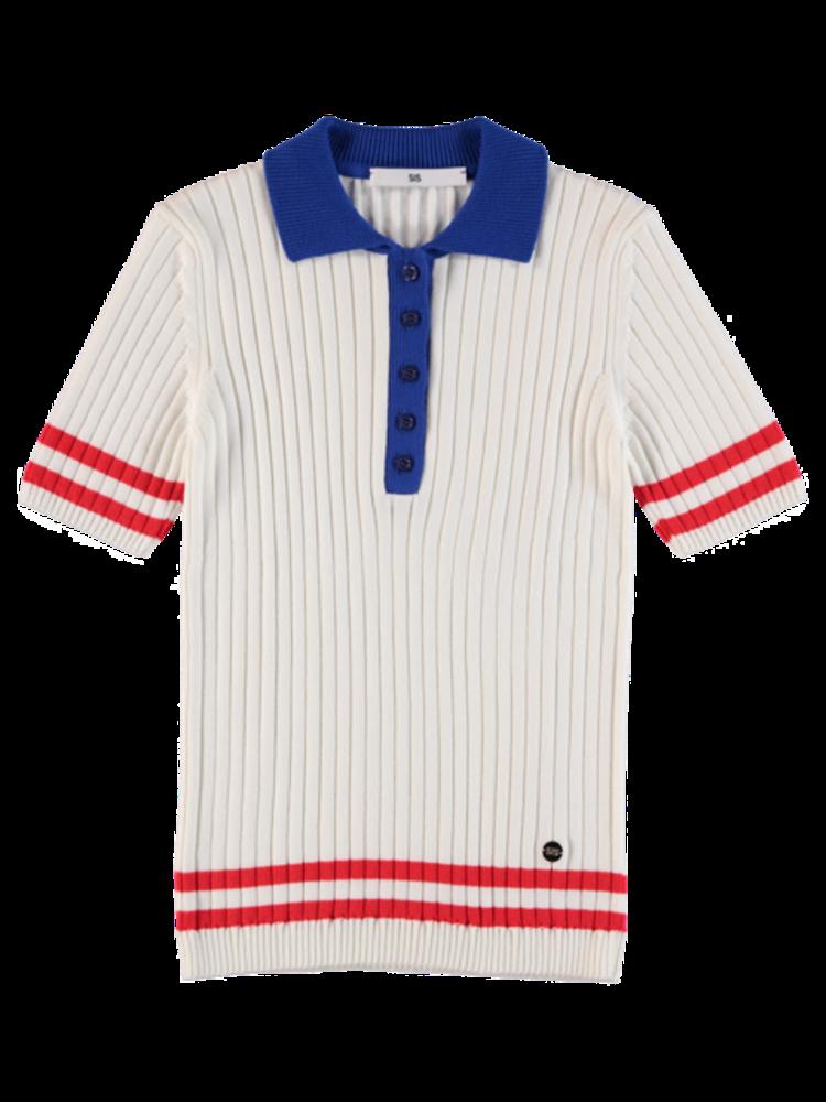Polo Knit White