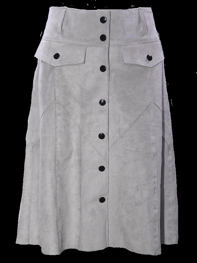 Suede Skirt Grey