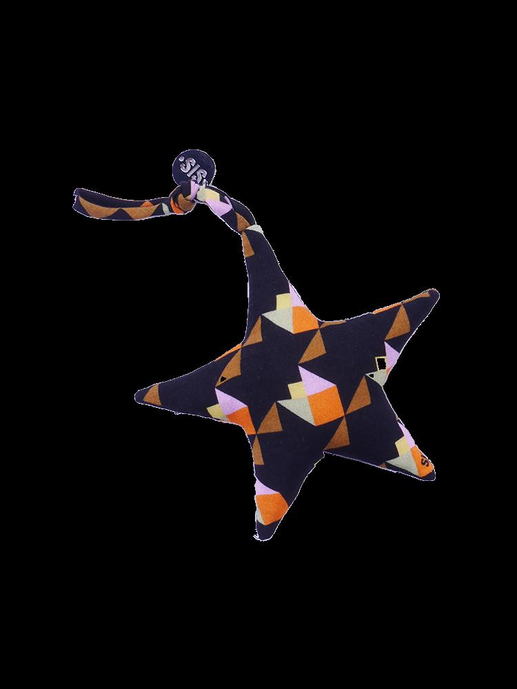 Keychain Star With Tulip Print Orange