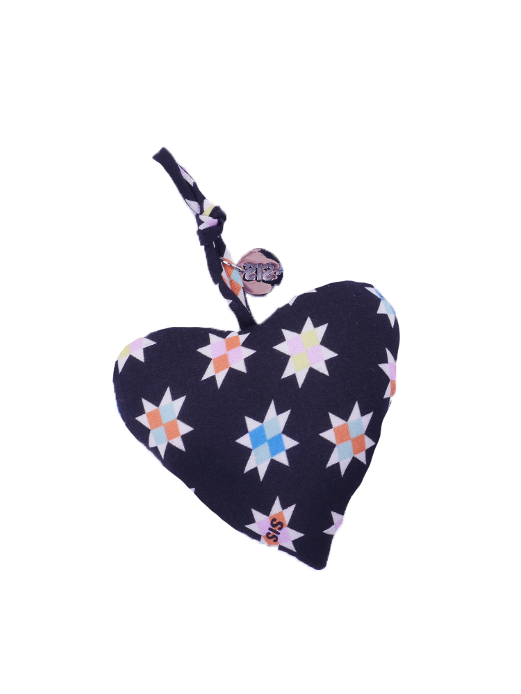 Keychain Heart With Stars