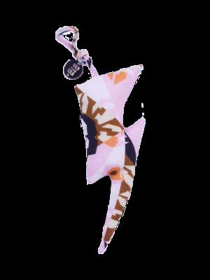 Keychain Lightning  Graphic flower pink