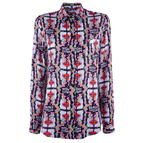 Classic blouse with chestpocket