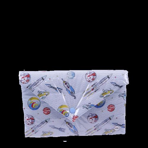 Gallaxy clutch bag blue