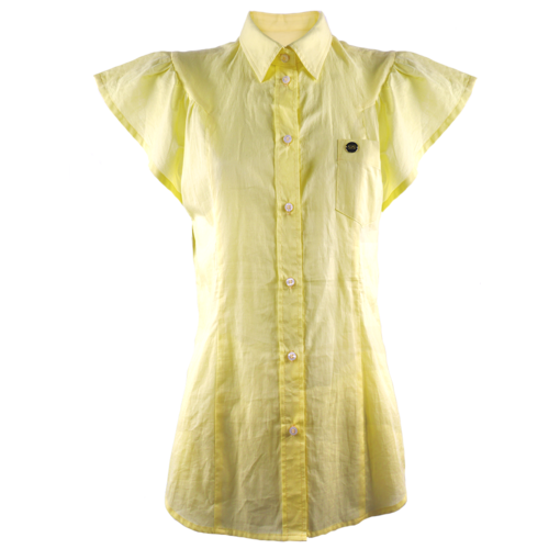 SIS by Spijkers en Spijkers blouse with short ruffle sleeves