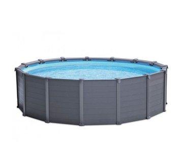 Intex Intex Graphite Panel Zwembad met zandfilter 478x124 cm