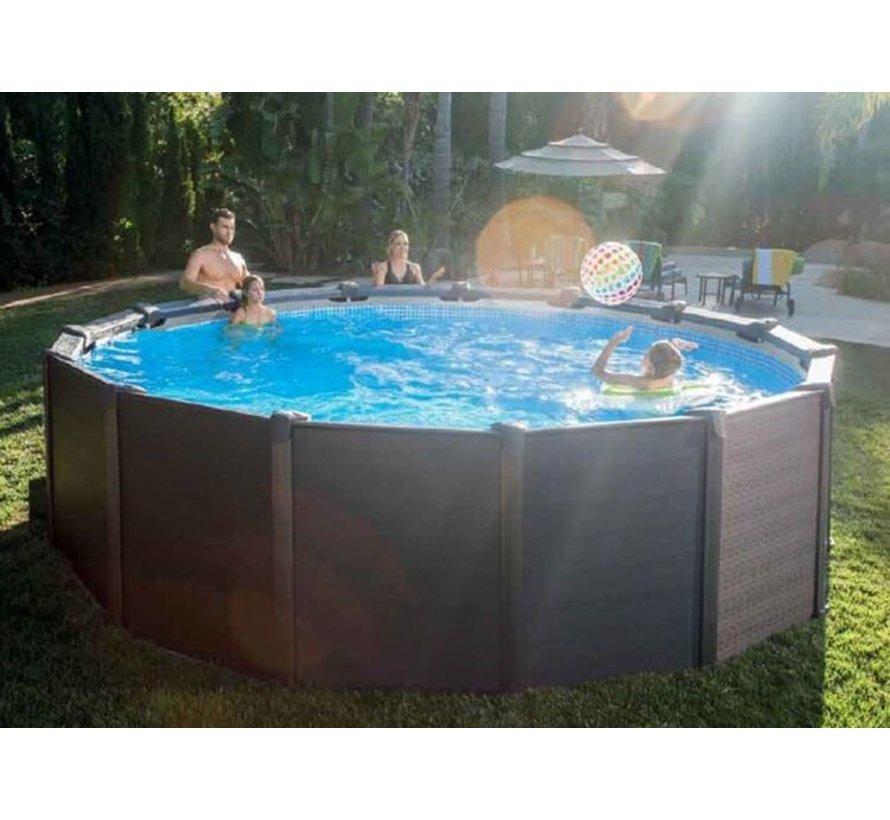 Intex Graphite Panel Zwembad met zandfilter 478x124 cm
