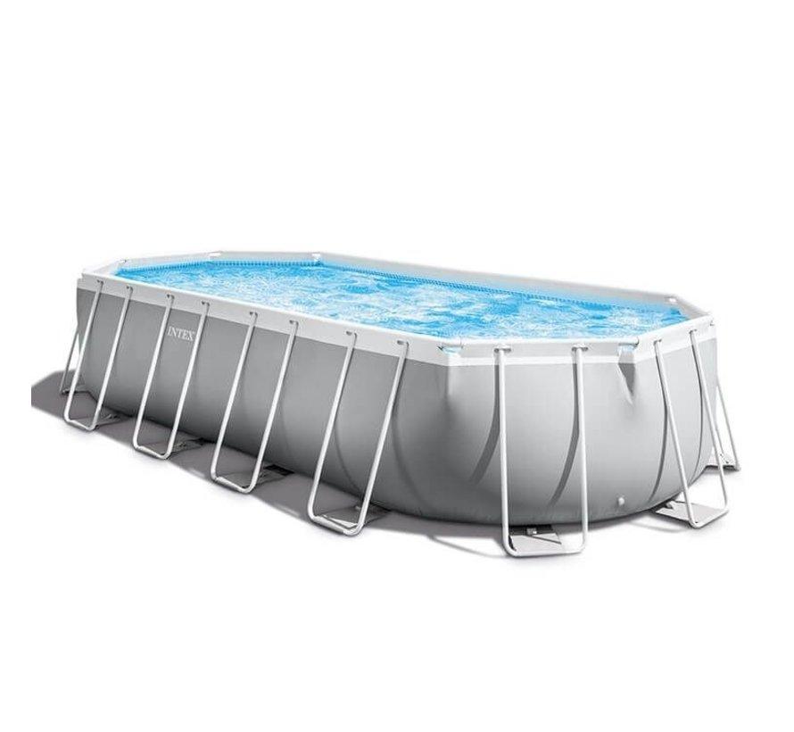 Intex Prism Ovaal Frame zwembad 610x305x122 cm