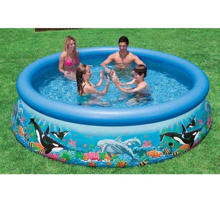 Intex zwembad met oceaanprint 305x76 cm
