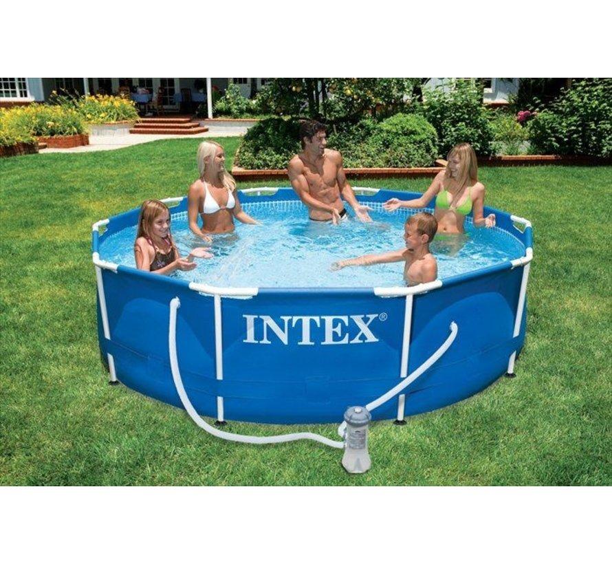 Intex Metal Frame zwembad 366x76 cm met filterpomp