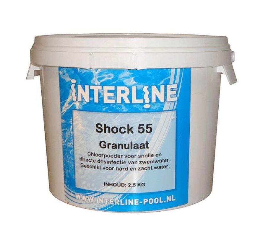 Shock 55 chloorgranulaat 25 kg