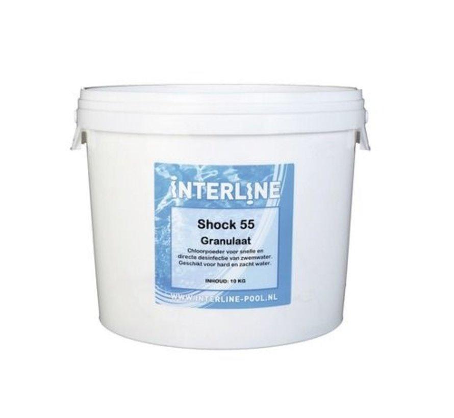 Interline Shock 55 chloorgranulaat 10 kg