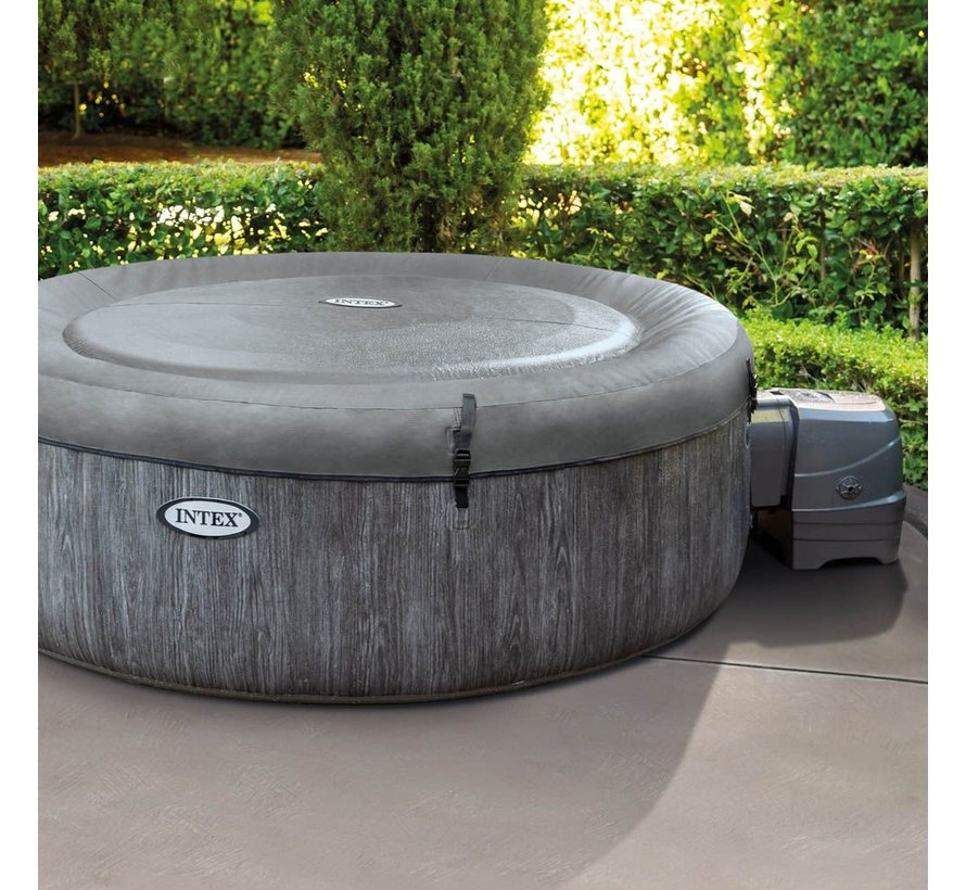 Intex PureSpa Bubble Greywood 4 personen jacuzzi - Ø 196 cm