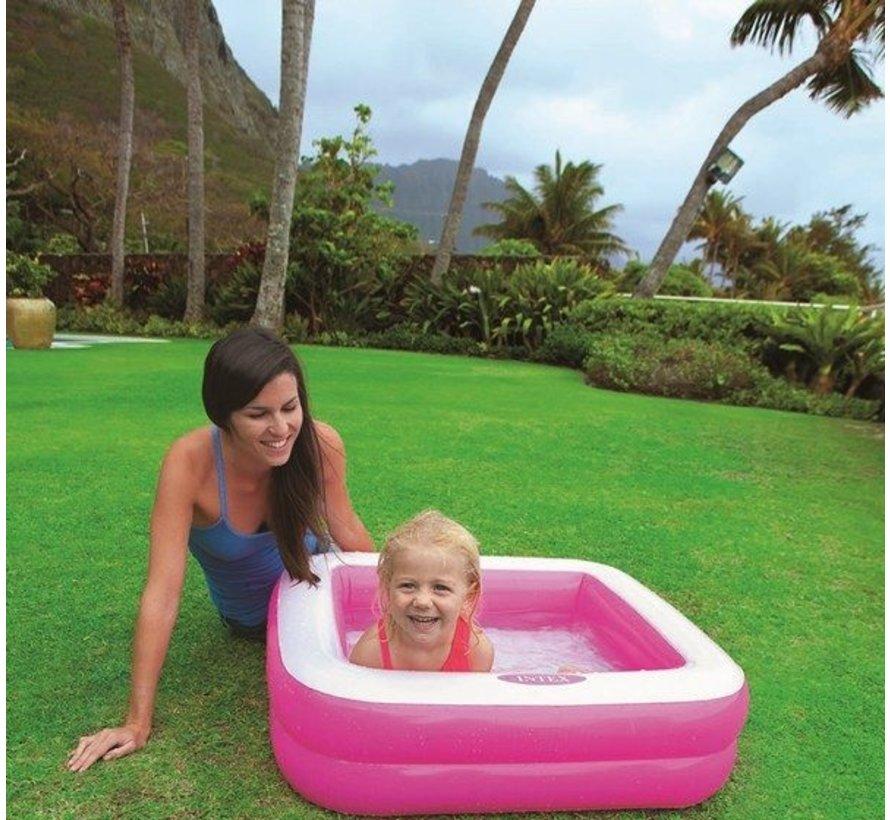 Vierkant opblaasbaar babyzwembad