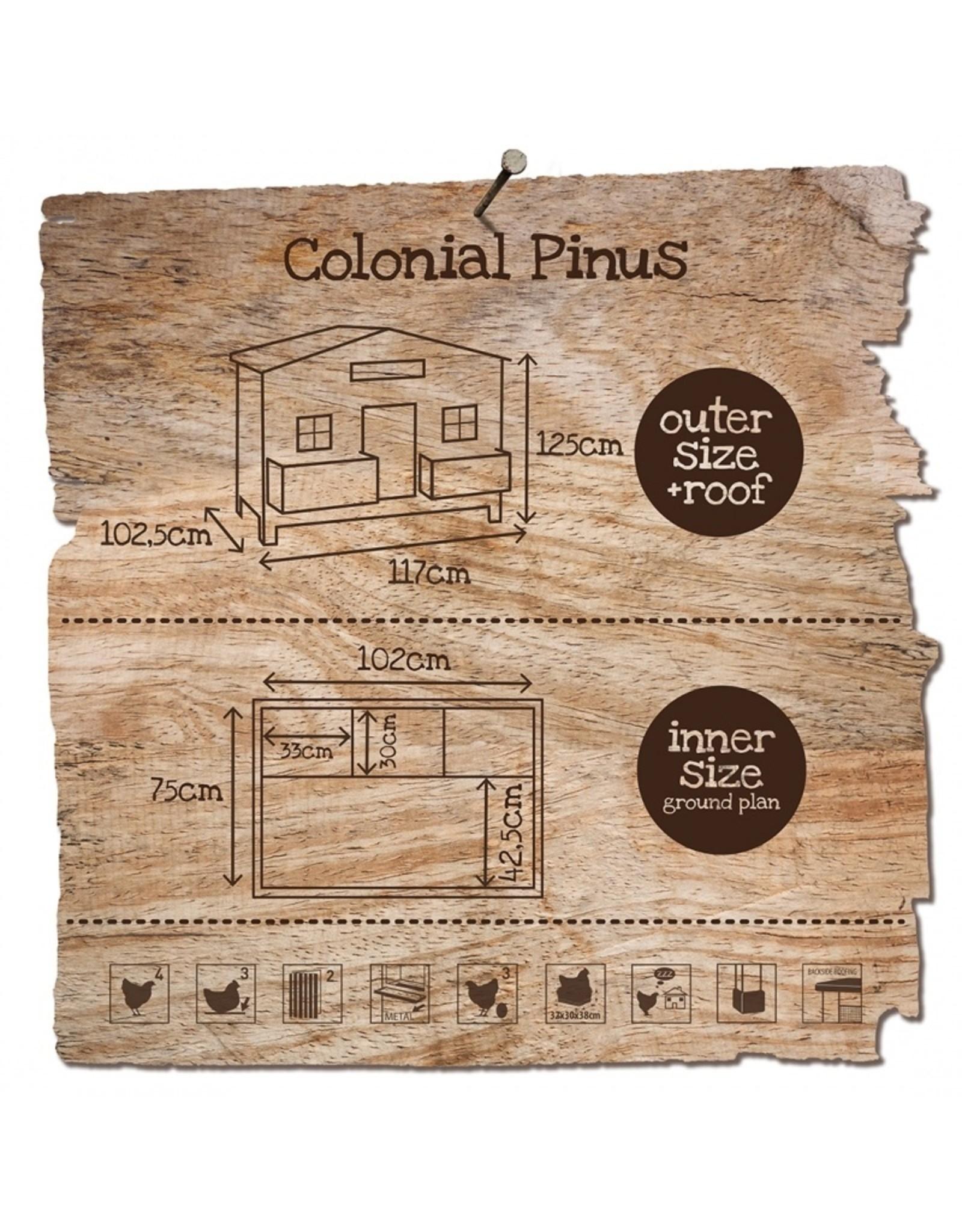 Kippenhokken Kippenhok Colonial Pinus - 1 Stuks
