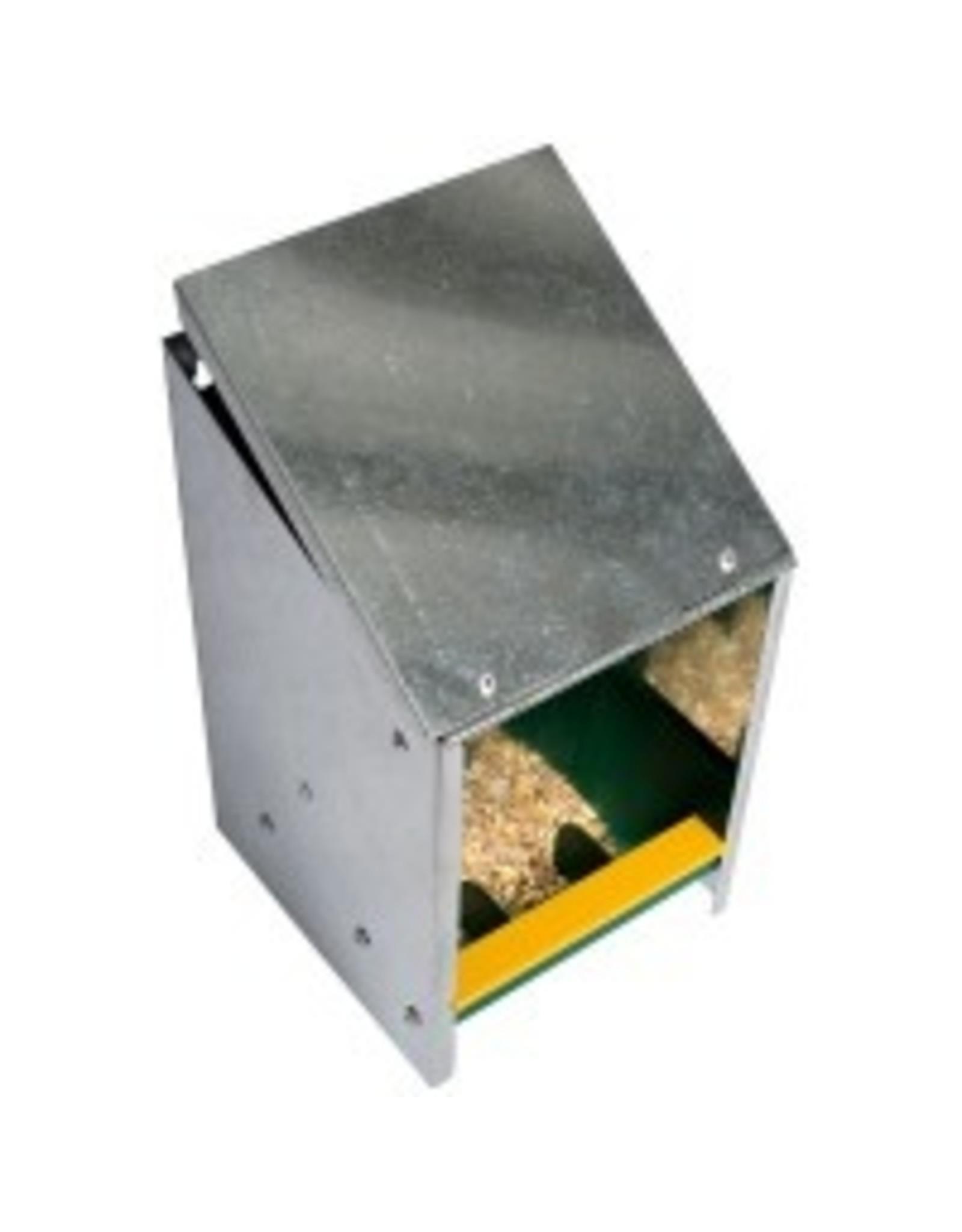 Drink/ Voerbakken Voerautomaat zink 2.5kg schuin deks - 1 Stuks