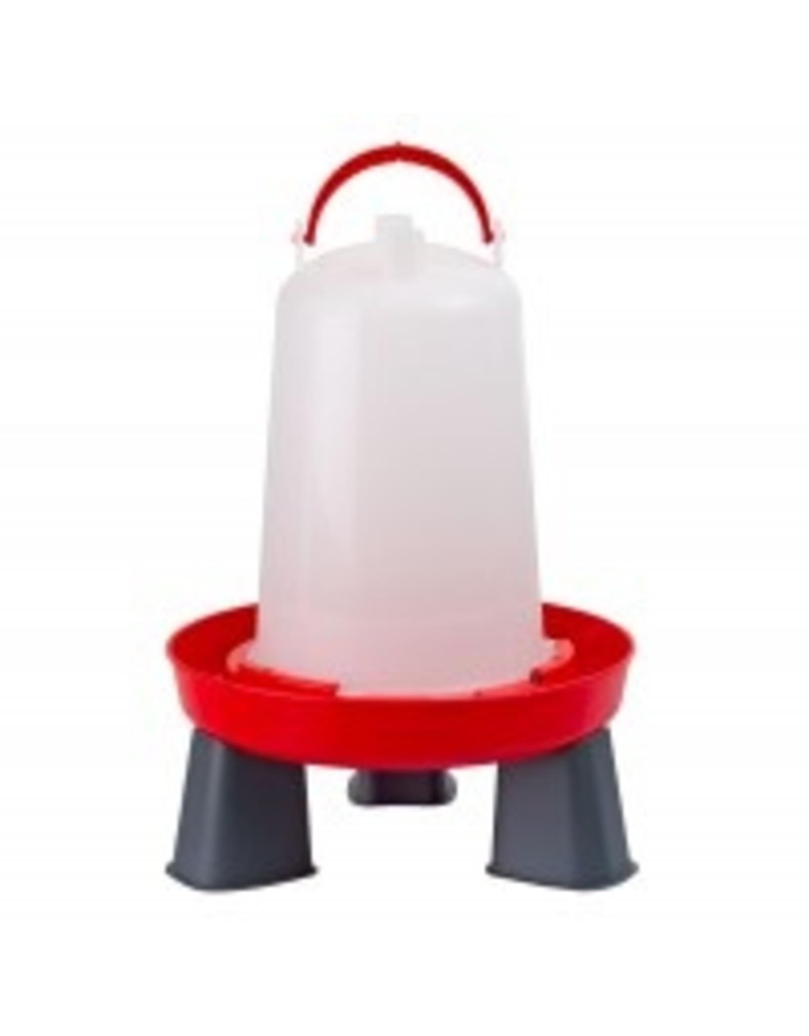 Drink/ Voerbakken Drinktoren rood  6 lit m poot - 1 Stuks