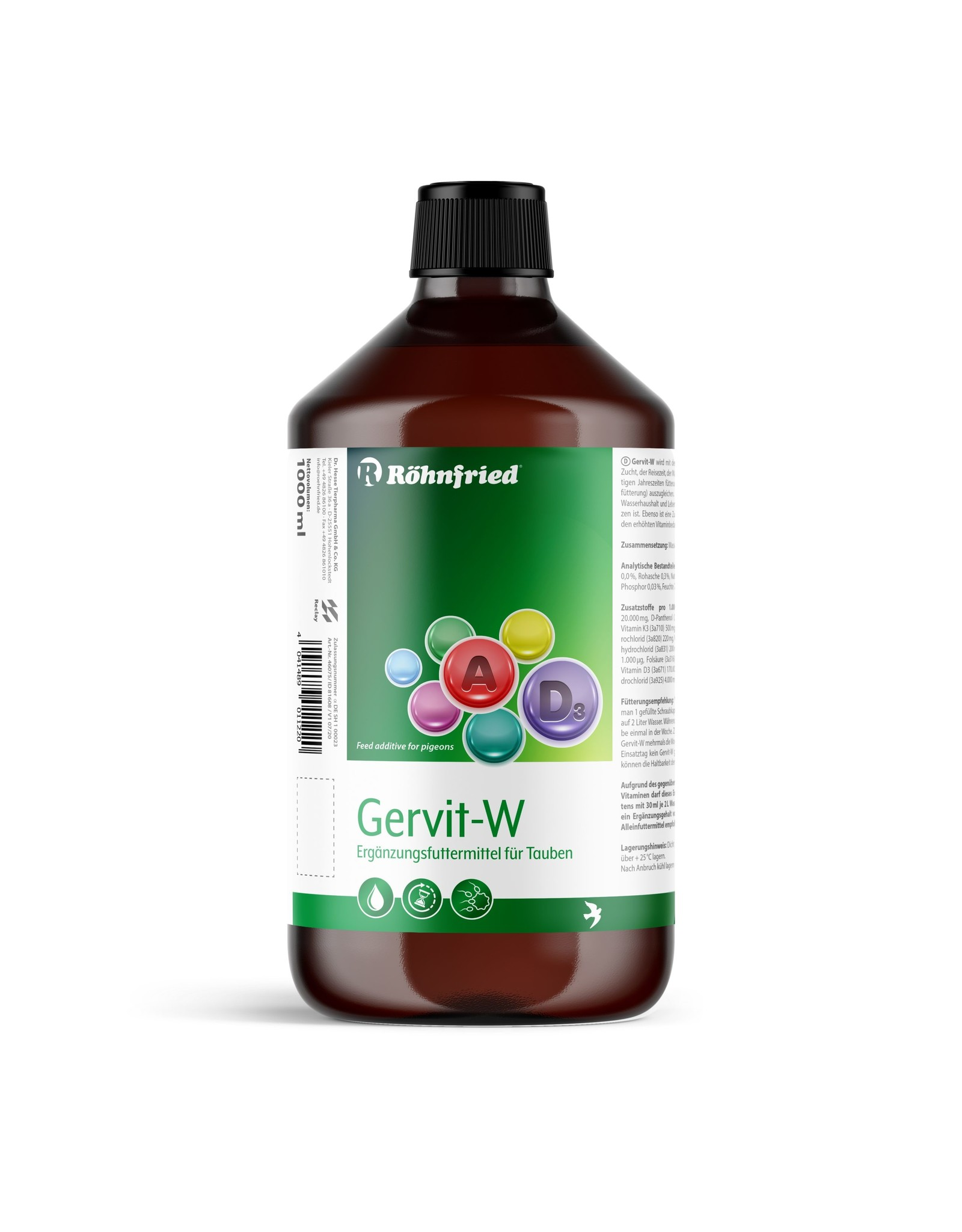Röhnfried Gervit-W 1lit - 1000 ML