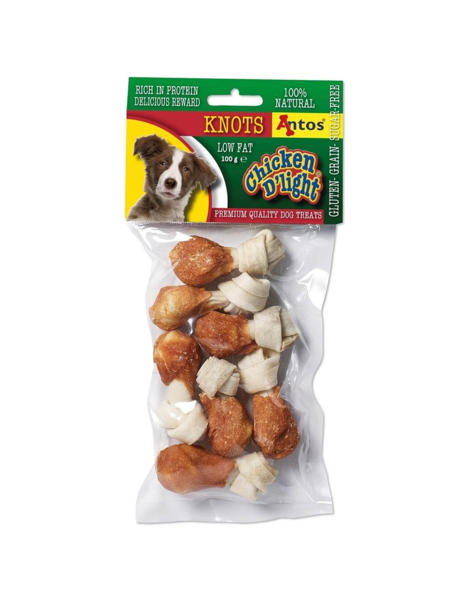Antos Chicken D'light Knots - 100 Gram