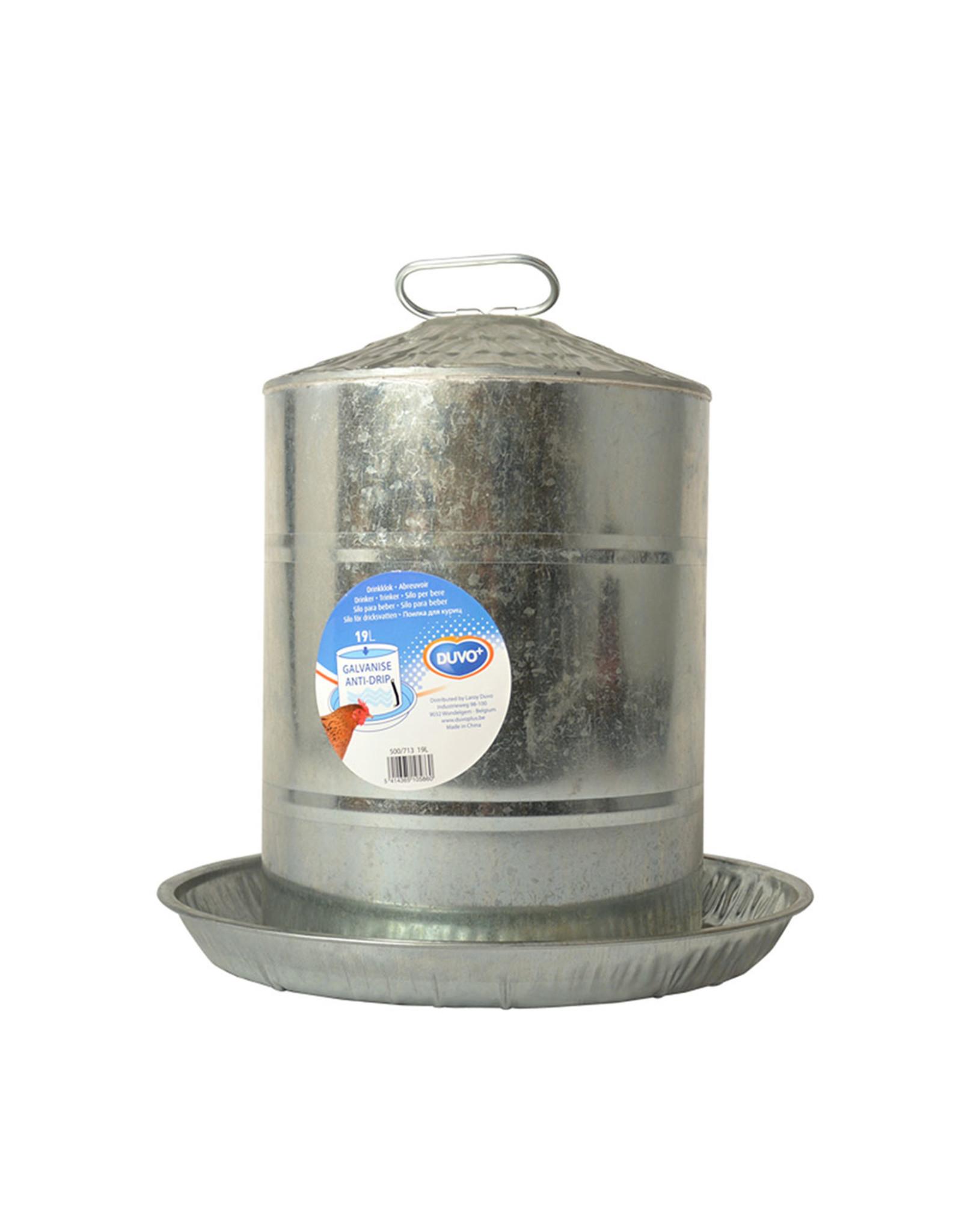 Drink/ Voerbakken Drinkklok Galvanise 19 L - 1 Stuks