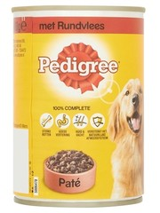 Pedigree 12x pedigree blik adult pate rundvlees
