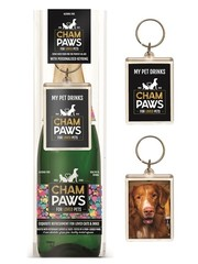 Pawsecco Champaws cadeauset met sleutelhanger