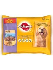 Pedigree Pedigree pouch 4-pack kip&lam in gelei