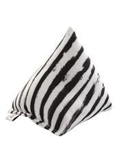 Canadiancat company Canadian cat cuddle pyramide zebra met catnip zwart / wit