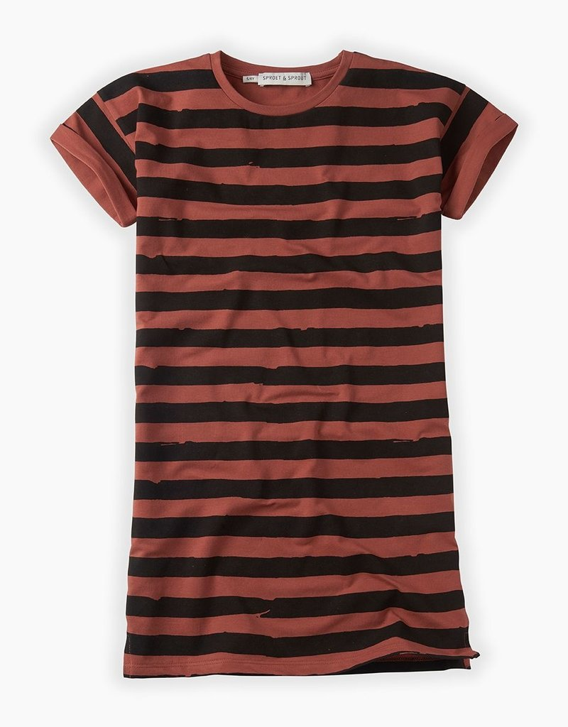 Sproet & Sprout Dress painted stripe