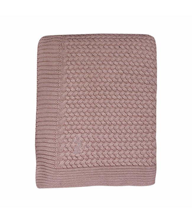 Mies & CO Soft knitted Wieg deken Pale Pink