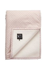 Mies & CO Teddy Blanket Pretty Pearls pink