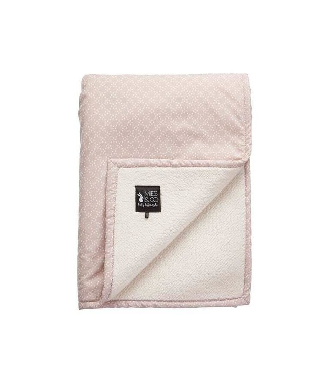 Mies & CO Teddy Blanket Pretty Pearls pink
