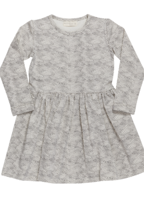 Blossom Kids Dress dotted waves Chocolate brown