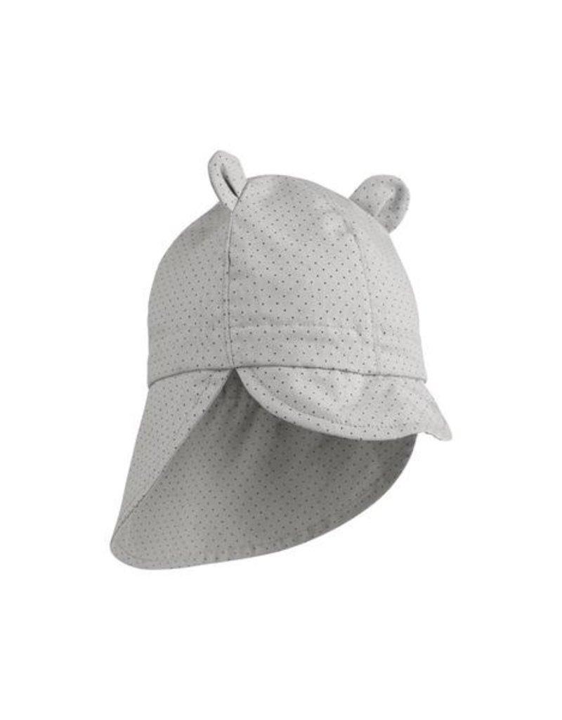 Liewood Gorm sun hat little dot dumbo grey