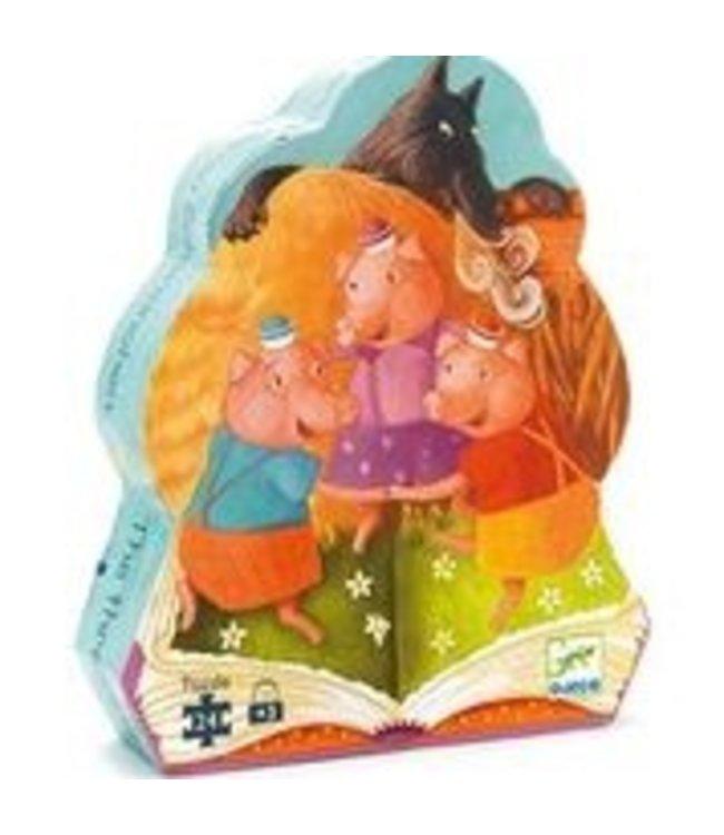 Djeco Puzzel drie biggetjes 24st