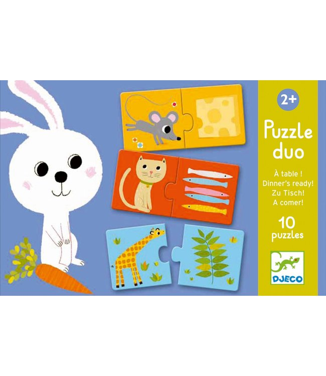 Djeco Duo puzzel Aan Tafel