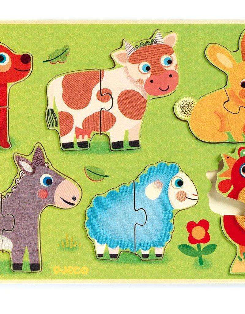 Djeco Relief puzzel Cow