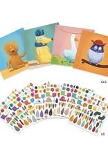 Djeco Stickers, dieren creëren