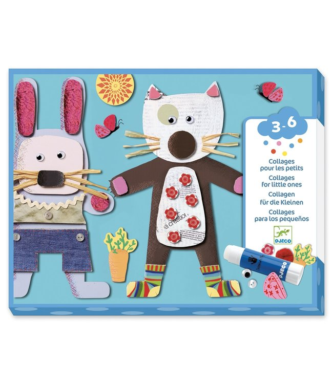 Djeco Collages voor de kleintjes - Diertjes