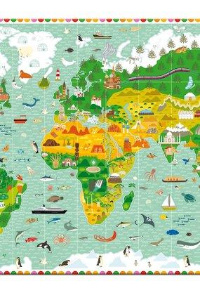 Djeco Observatiepuzzel Reis rond de wereld