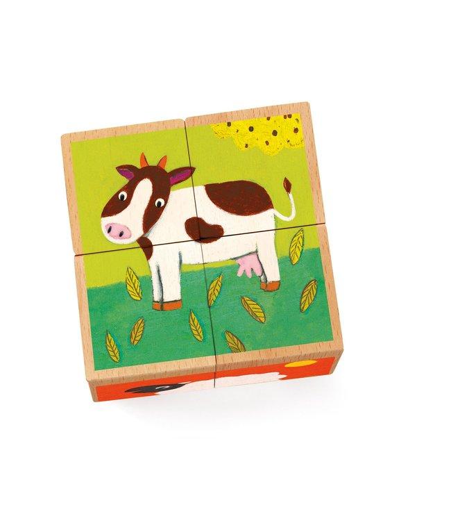 Djeco Meuh & Co houtenblokjes