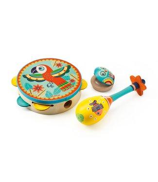 Djeco Maracas, tambourijn castagnetten