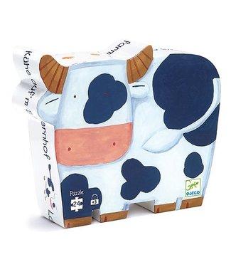 Djeco Puzzel Koeien op de boerderij 24st