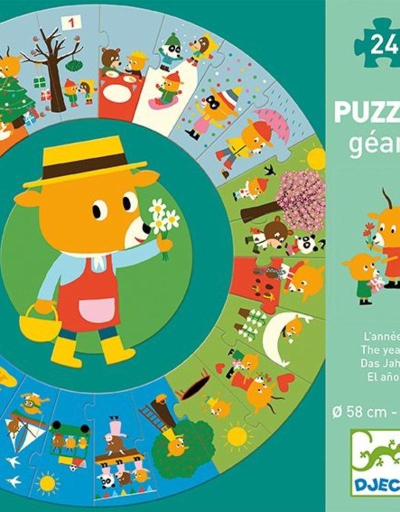 Djeco Puzzel 'Het jaar'