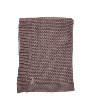 Mies & CO Soft knitted blanket crib Rosewood