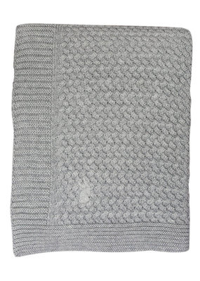 Mies & CO Soft knitted blanket crib Soft Grey