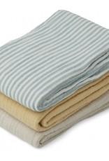 Liewood Line muslin cloth blue mix