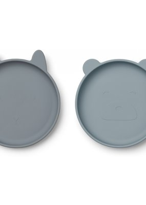 Liewood Olivia Plate 2 pack - blue mix