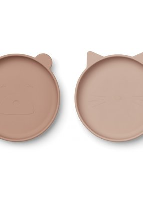 Liewood Olivia Plate - 2 pack rose mix