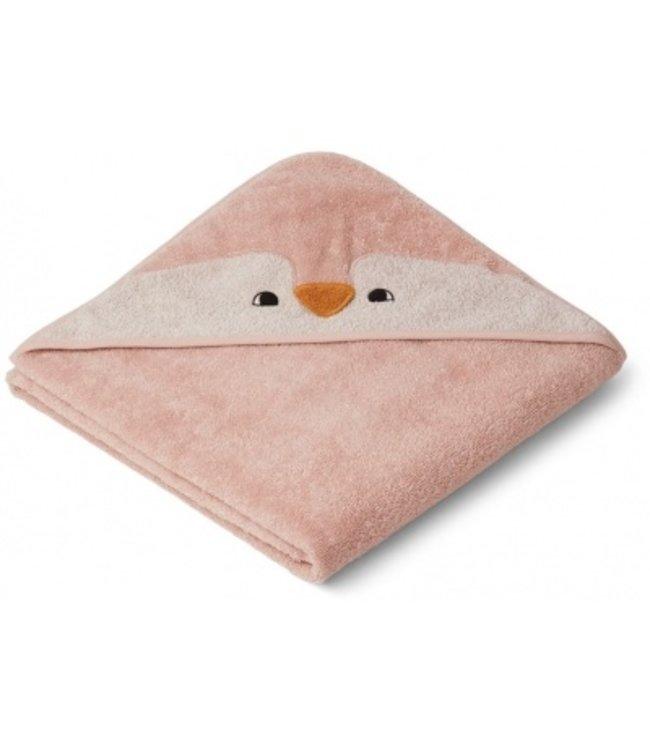 Liewood Augusta hooded towel Pinguin Rose